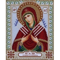 """Kit with seed beads """"Icon of the Mother of God of the Seven Arrows"""""""