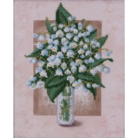 """Kit with seed beads """"Lily of the Valley"""""""