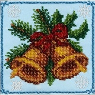 """Kit with seed beads """"Christmas Bells"""""""