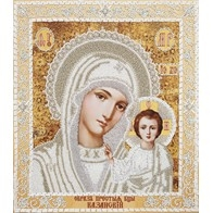 """Kit with seed beads """"The Kazan Icon of the Mother of God"""""""