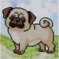 """Kit with seed beads """"Pug-Dog"""""""