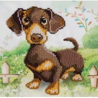 """Kit with seed beads """"Dachshund"""""""