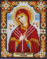 "Kit with seed beads ""The Icon of the Mother of God the Softener of Evil Hearts"""