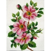 """Kit with seed beads """"Dog Rose"""""""