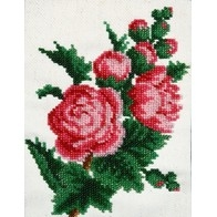 """Kit with seed beads """"Peonies"""""""