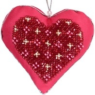 """Kit with seed beads """"Valentine"""""""