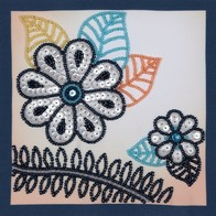 Beads and sequins embroidery kit ''Decorative Panels""