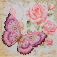 Free-form beads and sequins embroidery kit ''Delicacy""