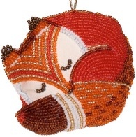 """DIY beads embroidery kit ''Decorative Toy """"Fox"""""""