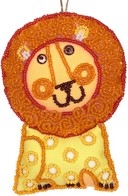 """DIY beads and sequins embroidery kit ''Decorative Toy """"Lionet"""""""