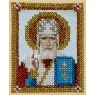 "Kit with seed beads ""St. Nicholas the Wonderworker"""