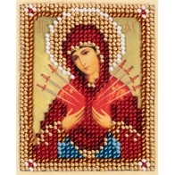 "Kit with seed beads ""Icon of the Mother of God of Seven Arrows"""