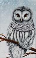 "Kit with seed beads ""Snow Owl"""
