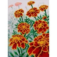 "Kit with seed beads ""Marigolds"""