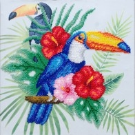 "Kit with seed beads ""Toucan"""