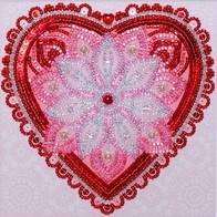 Free-form beads and sequins embroidery kit ''To Love!""
