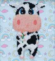 Kit with seed beads ''Cow""