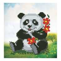 """Kit with seed beads ''Little Panda"""""""