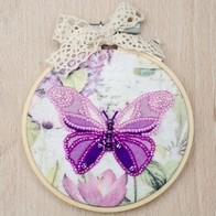 Kit with seed beads with seed beads and muline DMC ''Butterfly""