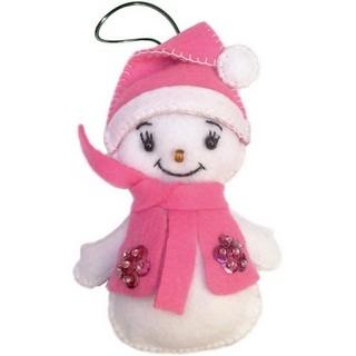 """Felt DIY kit """"Decorative Toy """"Snowman"""""""