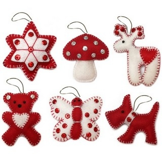 "Felt DIY kit ""Christmas Tree Toys"" (Gift set N2)"""