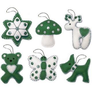 "Felt DIY kit ""Christmas Tree Toys"" (Gift set N6)"""