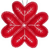 "Felt DIY kit ''Decorative toy ""Red Snowflake"""