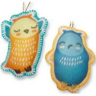 "Felt DIY kit ''Decorative toys ""Owls"""