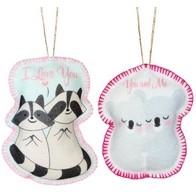 """Felt DIY kit ''Decorative toys """"Coalas and Raccoons"""""""