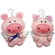 "Felt DIY kit ""Decorative Toys ""Piggies"""
