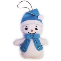 "Felt DIY kit ""Decorative Toy ""Snowman"""