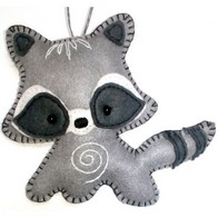 "Felt DIY kit ""Decorative Toy ""Raccoon"""