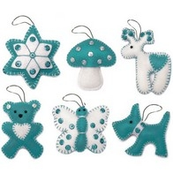 "Felt DIY kit ""Christmas Tree Toys"" (Gift set N5)"""