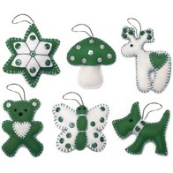 "Felt DIY kit ""Christmas Tree Toys"" (Gift set N6)"""