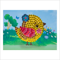 Pins and sequins art kit ''Chicken""