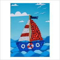 "Pins and sequins art kit ''Ship"""