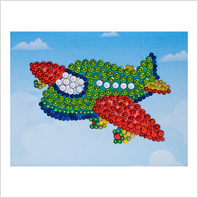 Pins and sequins art kit ''Airplane""