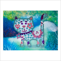 Pins and sequins art kit ''Kitty""