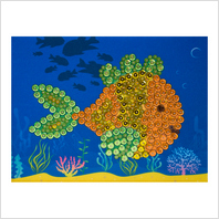 "Pins and sequins art kit ''Fish"""