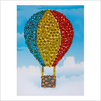 Pins and sequins art kit ''Balloon""
